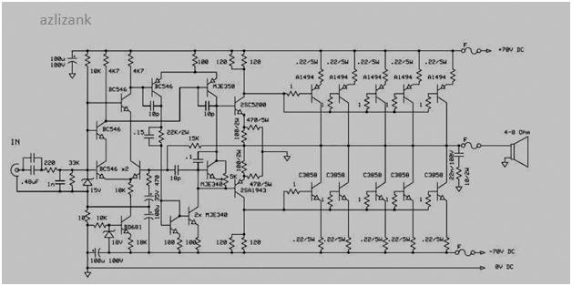 Power Amplifier 1000 Watt Sanken