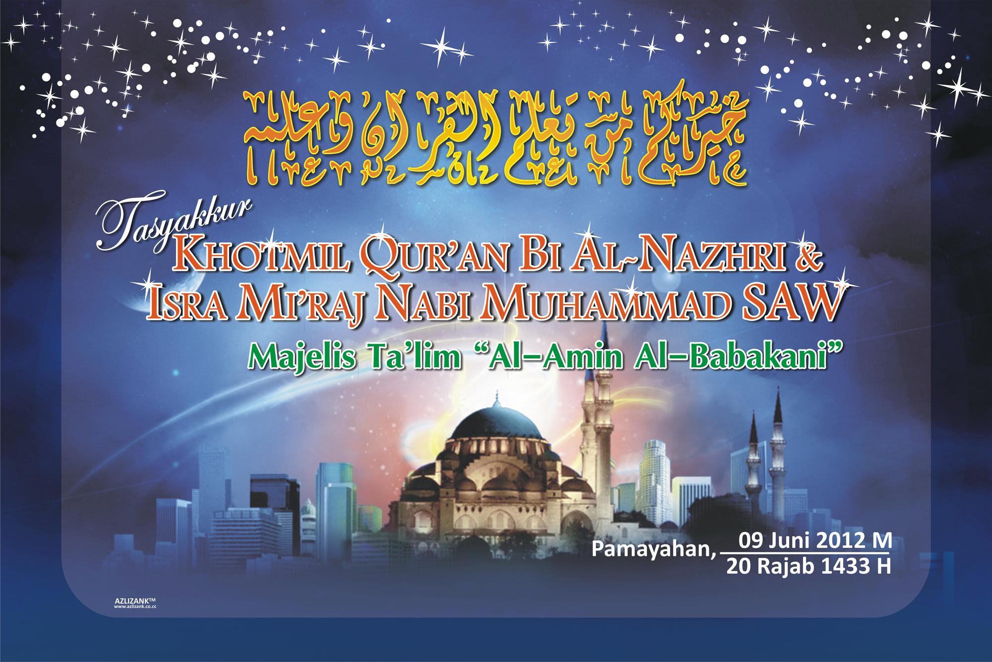 Spanduk Panggung Khotmil Quran Isro Miroj