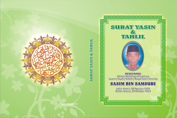 template cover yasin hijau