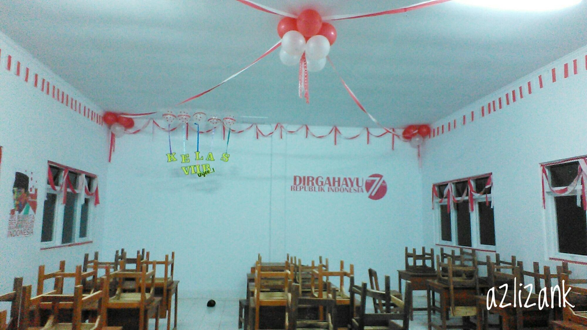 dekorasi kelas hut ri ke 71